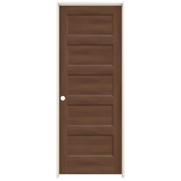 Jeld Wen 32 In X 80 In Conmore Milk Chocolate Stain Smooth Hollow Core Molded Composite Single Prehung Interior Door Thdjw236700197 The Home Depot
