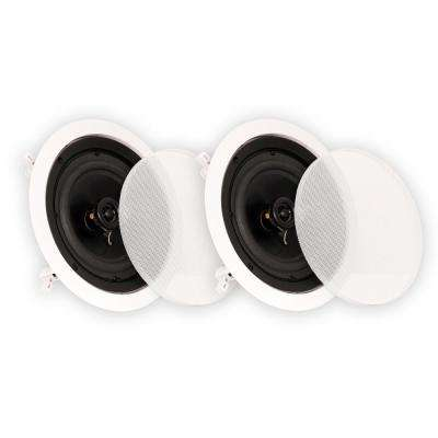 In-Ceiling 6.5 in. Speakers Home Theater Surround Sound Pair