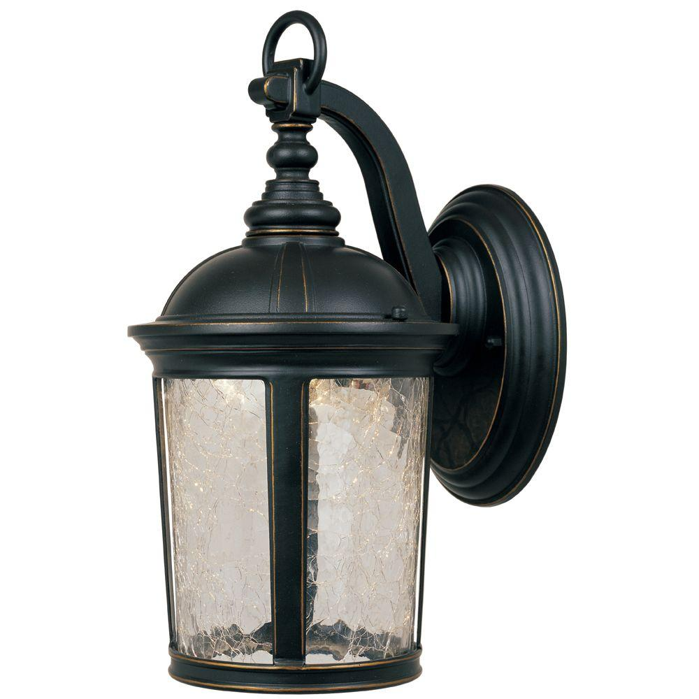 Winston Aged Bronze Patina Outdoor LED Wall Lantern