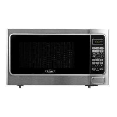 1.1 cu. ft. 1000-Watt Countertop Microwave Oven in Platinum with Stainless Steel