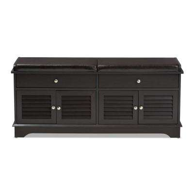 Leo Dark Brown Storage Bench