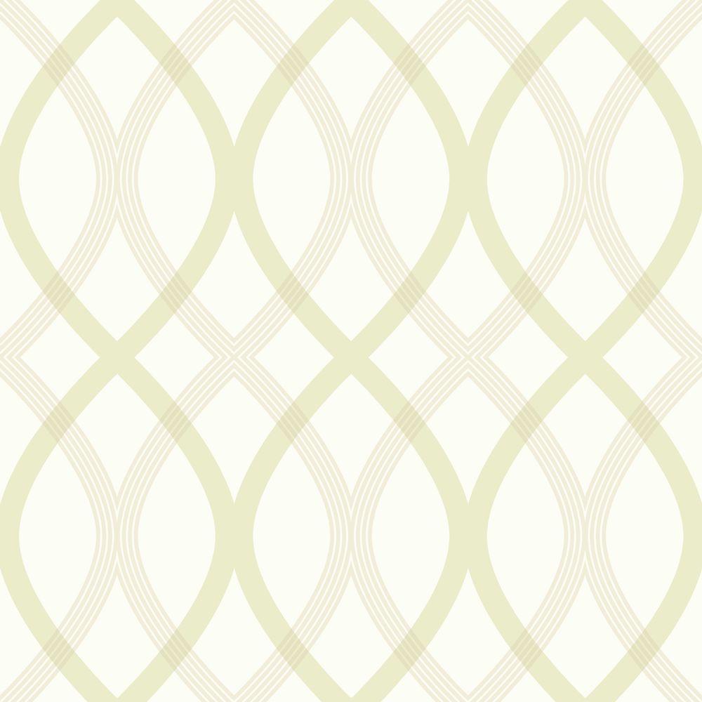 Contour Green Geometric Lattice Wallpaper Sample