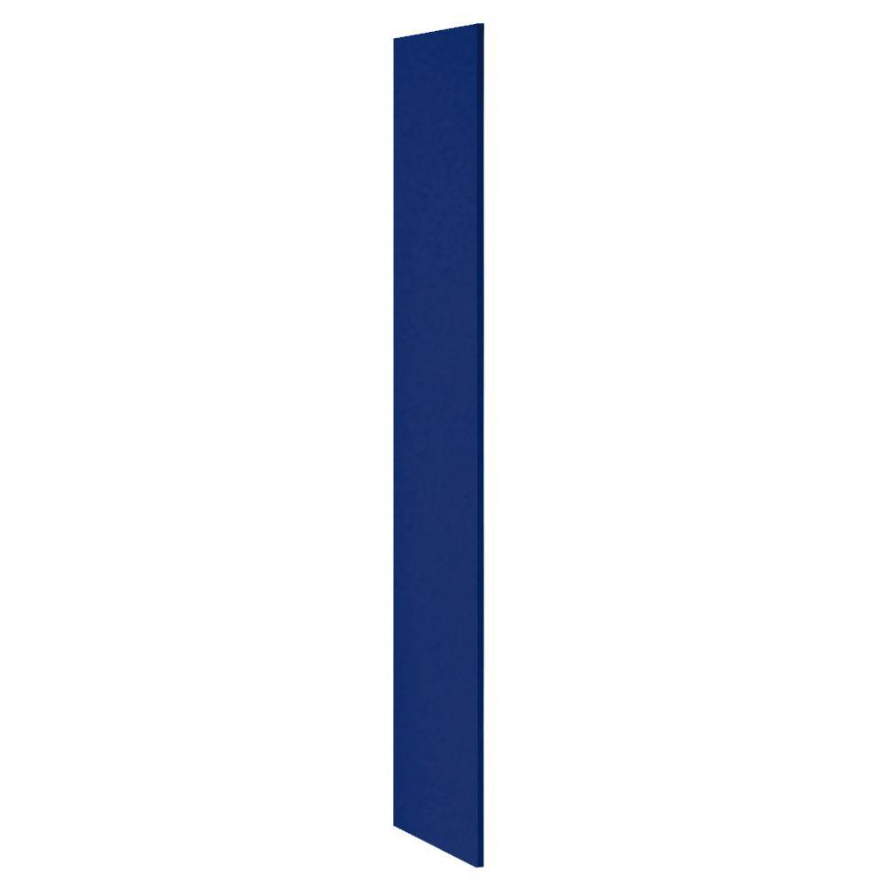 Salsbury Industries Heavy Duty Plastic Side Panel without Sloping Hood for Heavy Duty Plastic Locker in Blue
