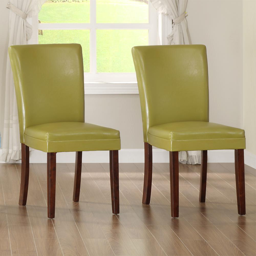 HomeSullivan Chartreuse Yellow Parsons Dining Chair (Set of 2)
