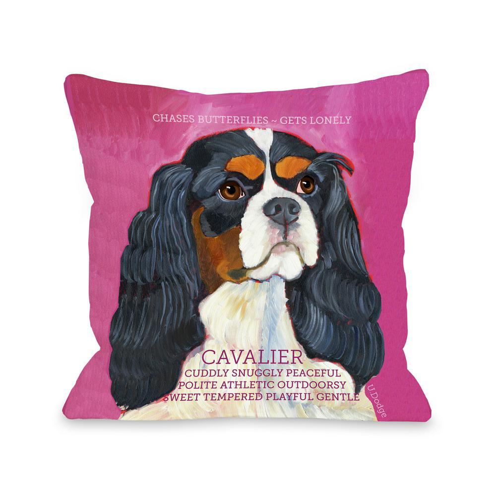 Cavalier 2 16 in. x 16 in. Decorative Pillow