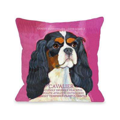 Cavalier 2 16 in. x 16 in. Decorative Pillow