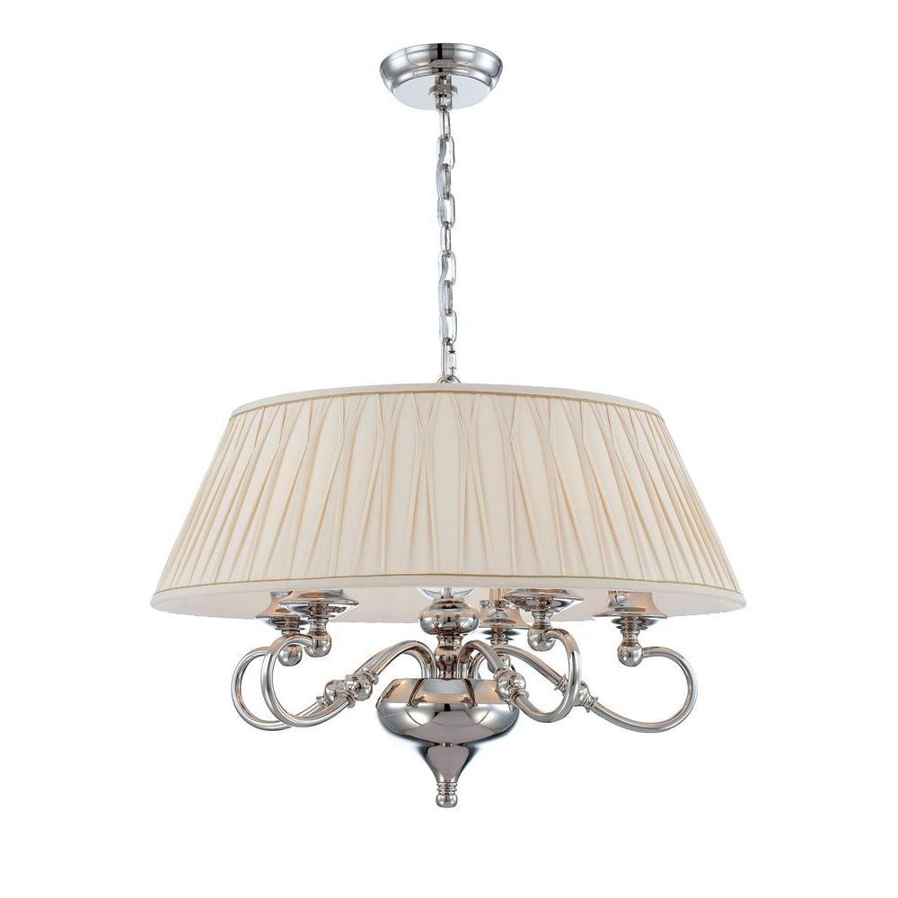 World Imports Sophia Collection 5-Light Polished Nickel Ceiling Pendant