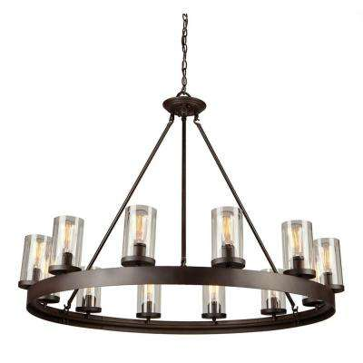 Menlo Park 12-Light Dark Brown Chandelier