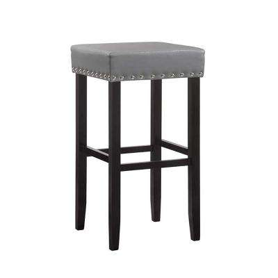 Edenton 31 in. Gray Nail Head Trim Stool