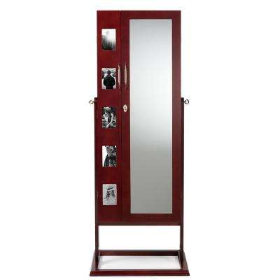 Vittoria Brown Wood Jewelry Armoire