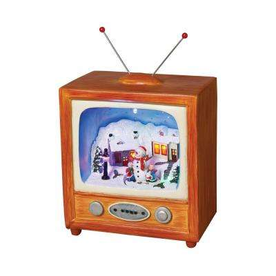 9 in. H Battery Operated Led Television Christmas Scene