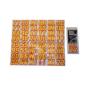 2 inch Factory Matched Snowmobile Registration Kits in Yellow/Red by