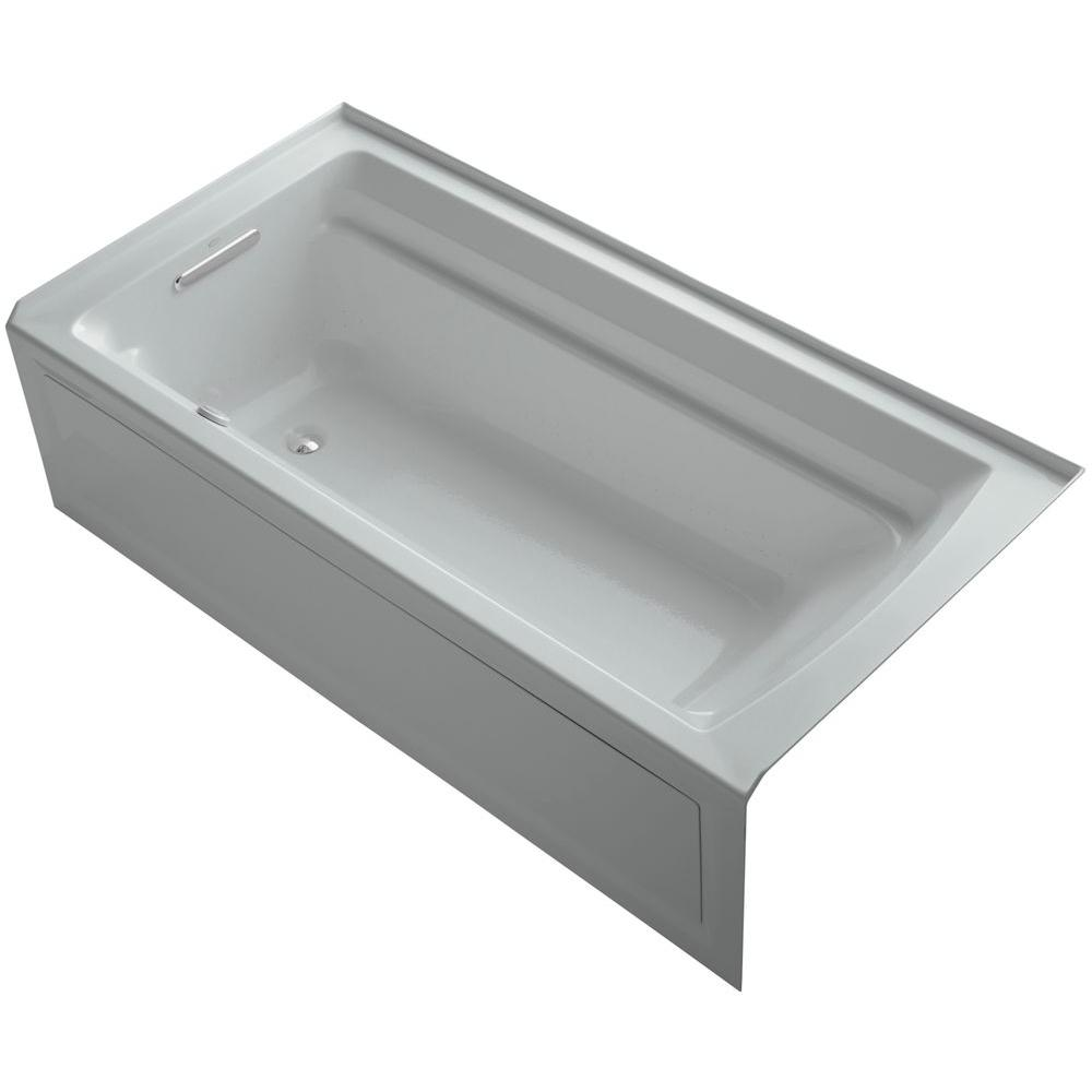 KOHLER Archer 6 ft. Acrylic Left Drain Rectangular Alcove ...