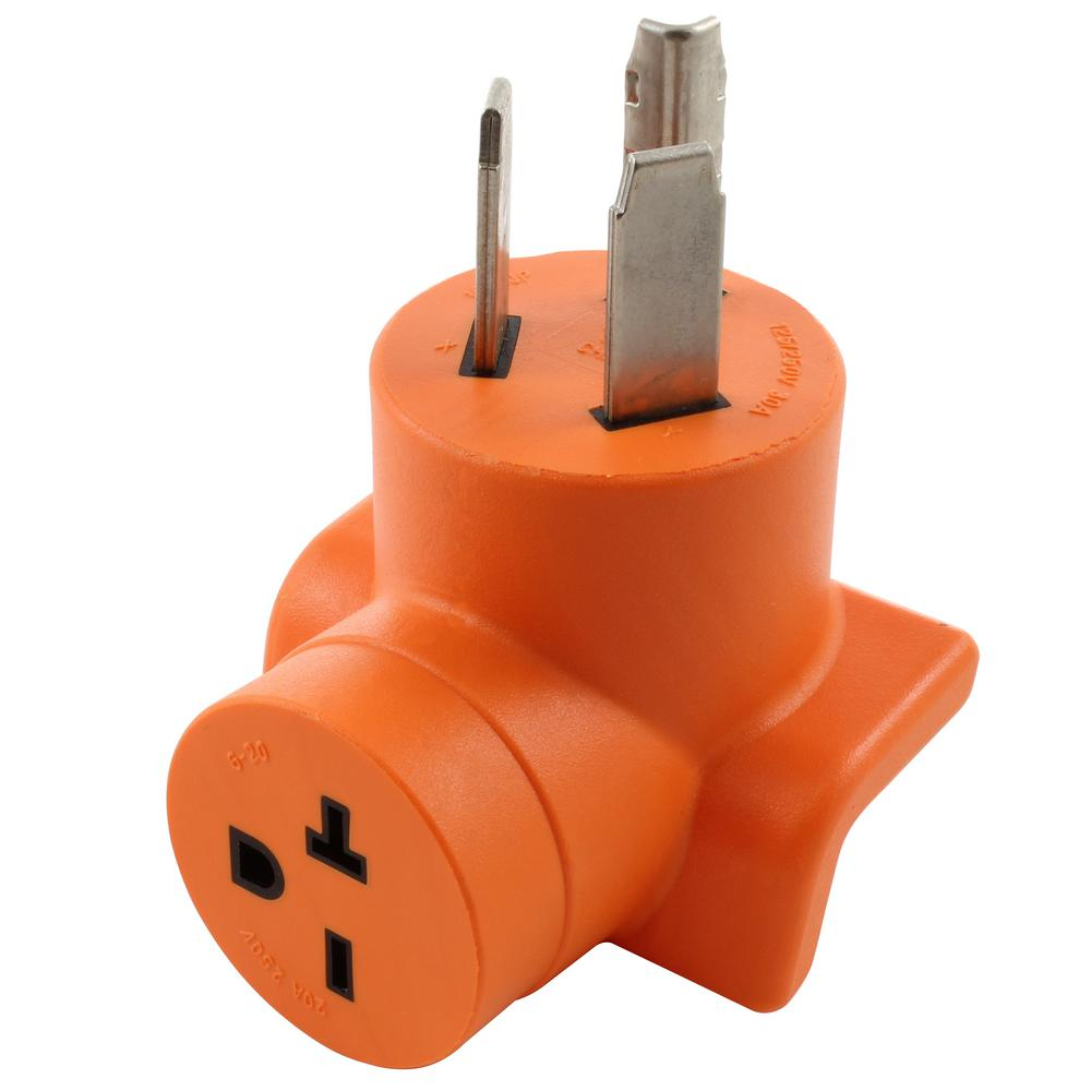 6-20P 3-PIN MALE PLUG to 10-30R 3-PRONG FEMALE RECEPTACLE POWER CORD ADAPTER