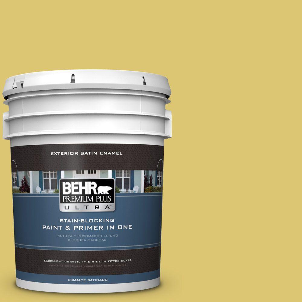 BEHR Premium Plus Ultra 5-gal. #P330-5 Midori Satin Enamel Exterior Paint