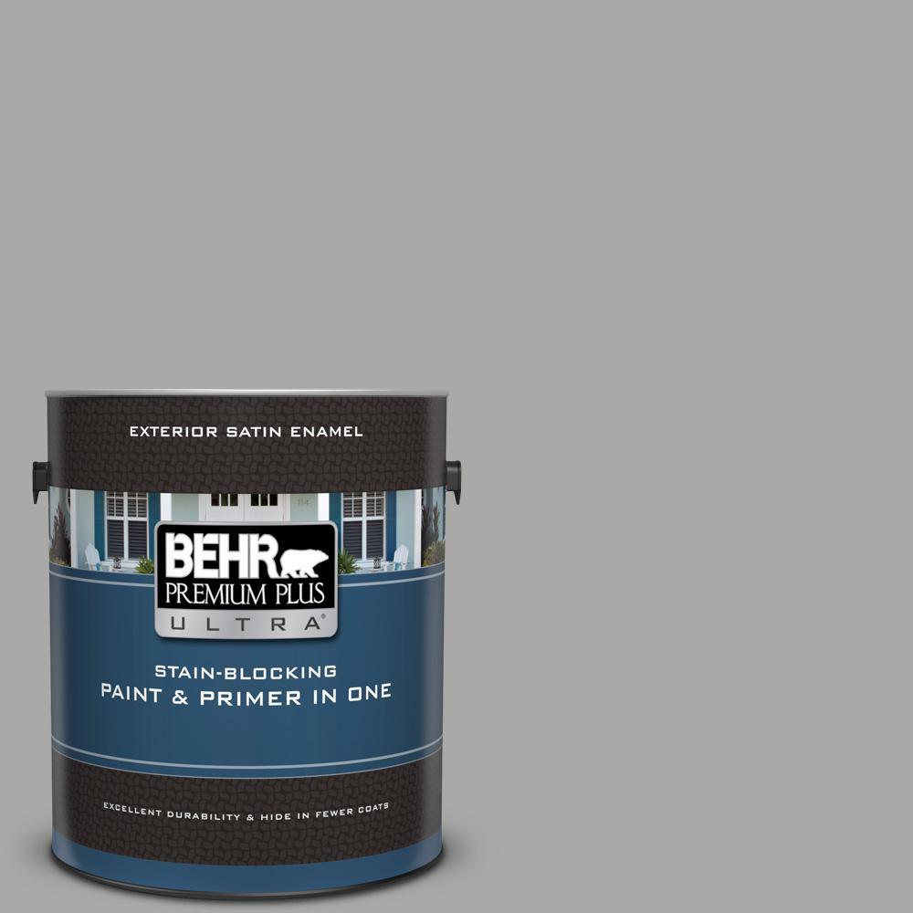 Behr Premium Plus Ultra 1 Gal Ppu18 14 Cathedral Gray Satin Enamel Exterior