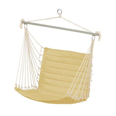 Weekend 27 in. Quilted Hammock Chair in Straw