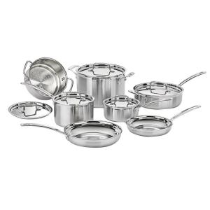 Cuisinart MultiClad Pro 12-Piece Stainless Cookware Set with Lids by Cuisinart