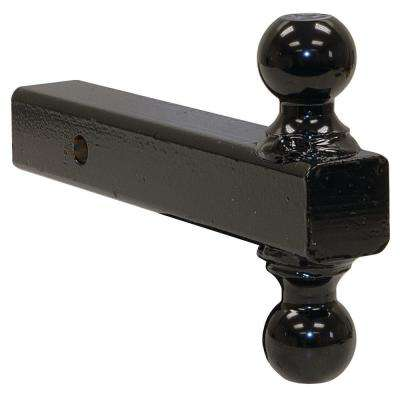 Double-Ball Hitch-Solid Shank with Black Towing Balls