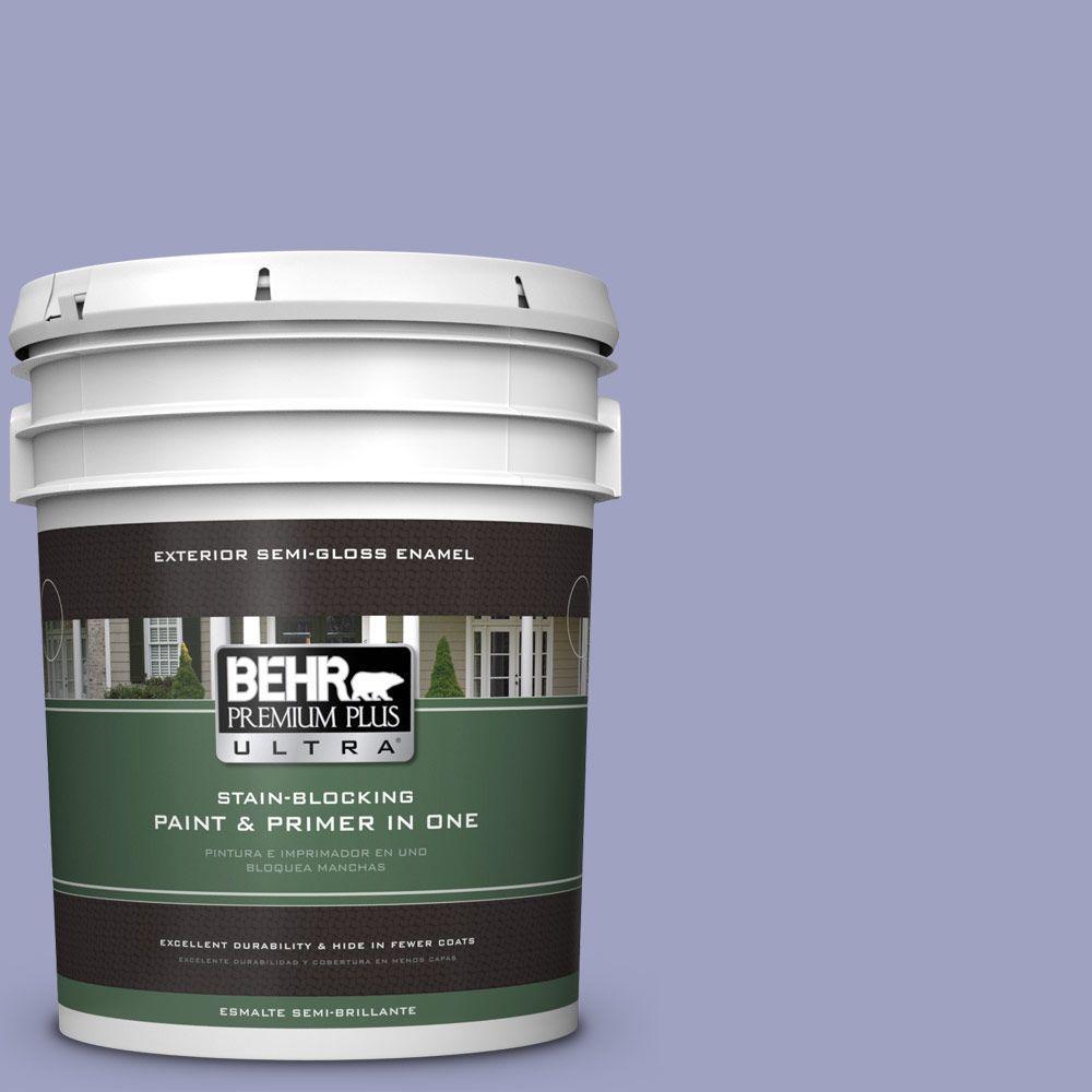 BEHR Premium Plus Ultra 5-gal. #630D-4 Ruffled Iris Semi-Gloss Enamel Exterior Paint