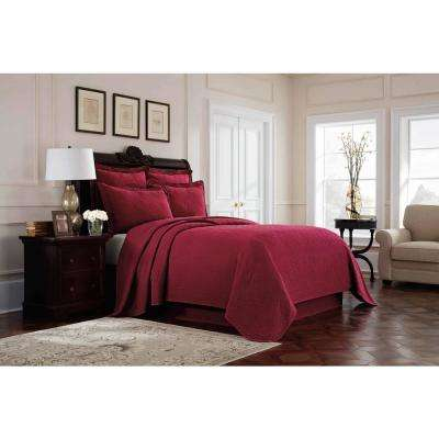 Williamsburg Richmond Red Twin Coverlet