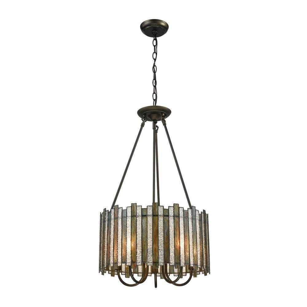 Titan Lighting Lineage 5-Light Oil Rubbed Bronze LED