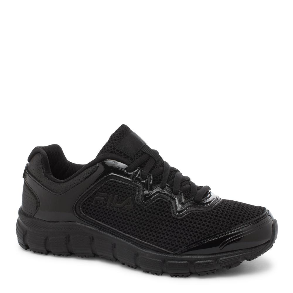 Fila Memory Fresh Start Women Size 10 Black/Black Leather...