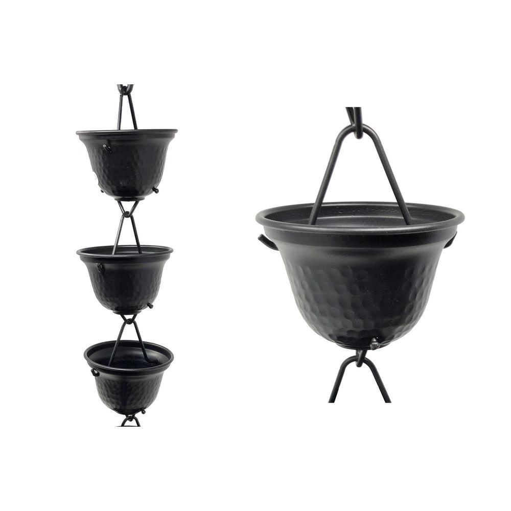 8.5 ft. Black Aluminum Tealight Rain Chain
