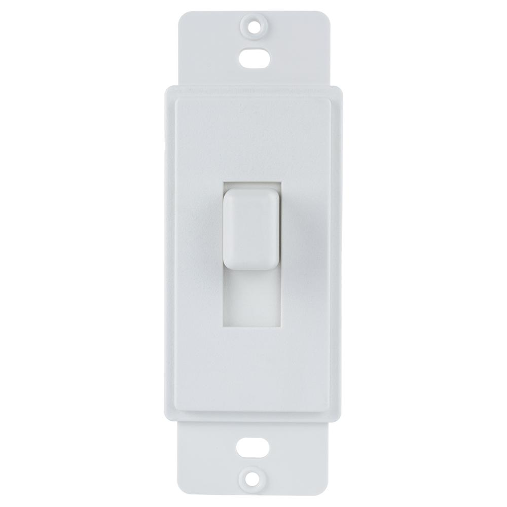 Commercial Electric 1-Gang or Multi-Gang Toggle Plastic Adapter Plate, White