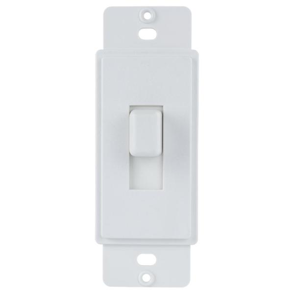1-Gang or Multi-Gang Toggle Plastic Adapter Plate, White