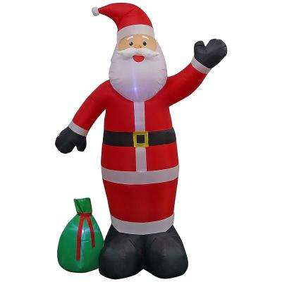 9 ft. Pre-Lit Giant Airblown Inflatable Santa with Toy Sack