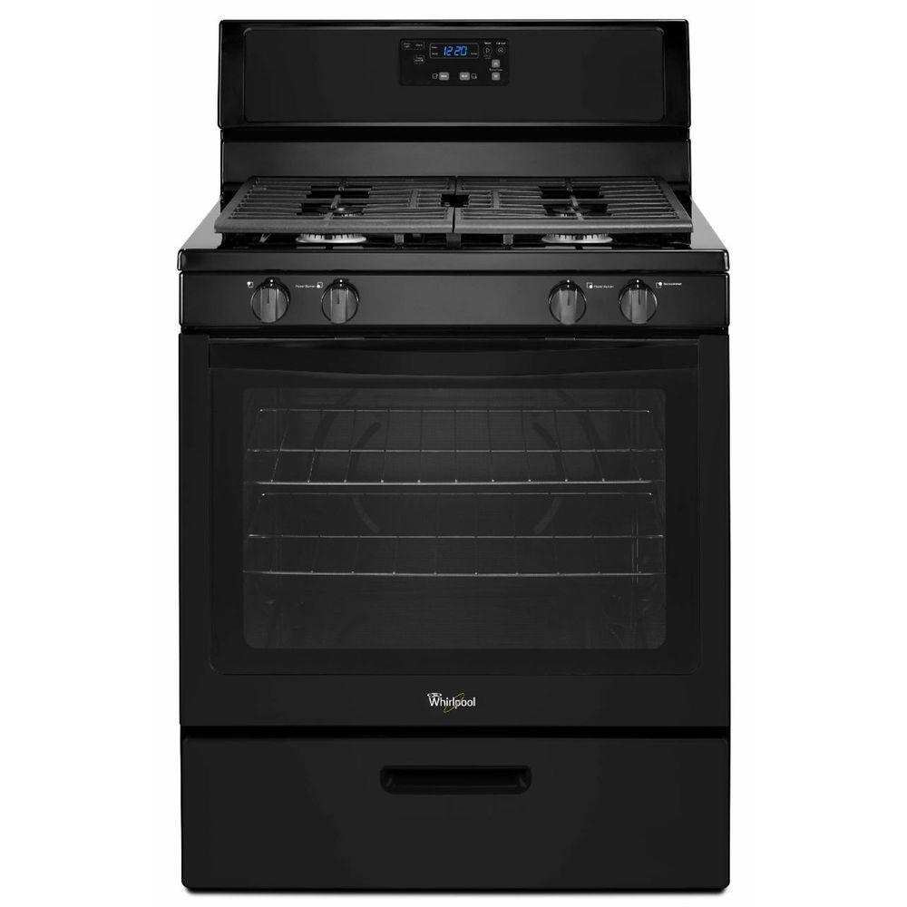 whirlpool 5 1 cu ft gas range in black wfg320m0bb the home depot 220 Volt 30 Amp Plug Wiring Diagram whirlpool 5 1 cu ft gas range in black