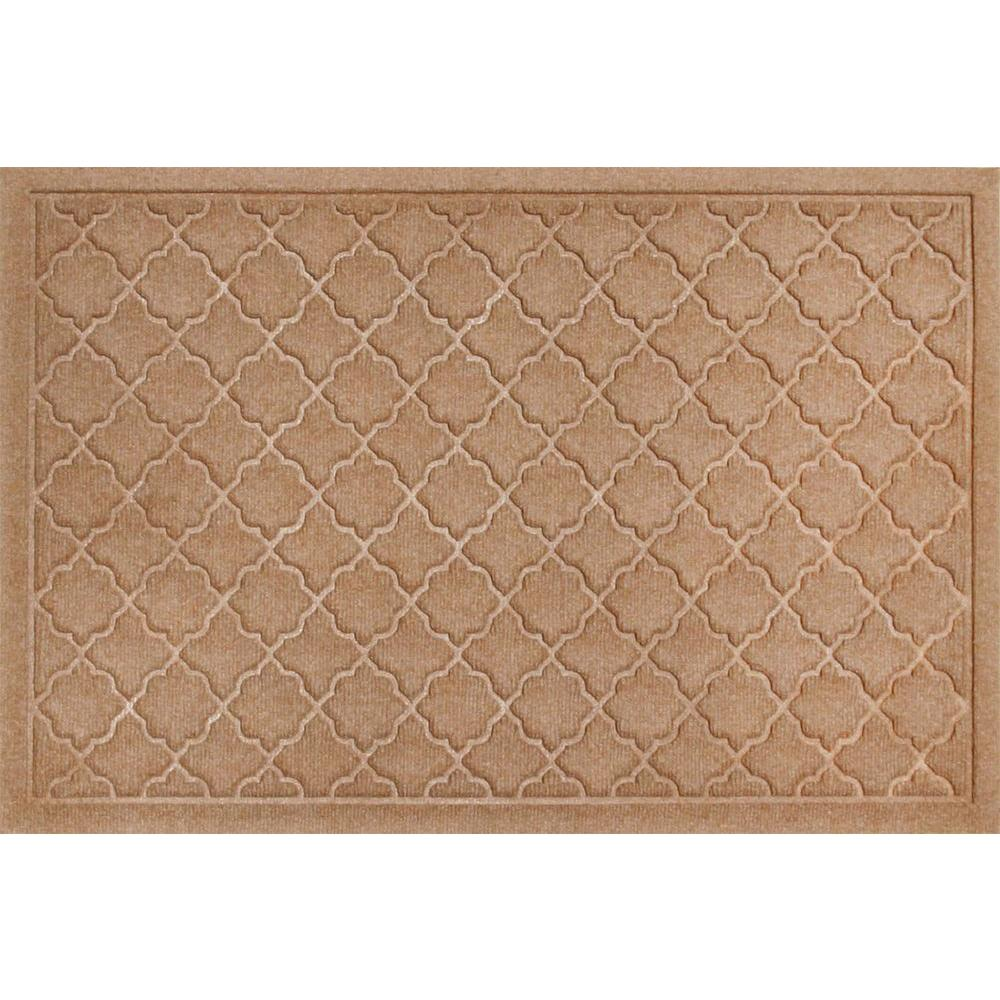 Bungalow Flooring WaterGuard Cordova Medium Brown 2 ft. x 3 ft. Polypropylene Mat