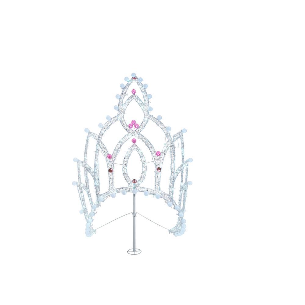 54 in. 175-Light LED Mesh Tiara