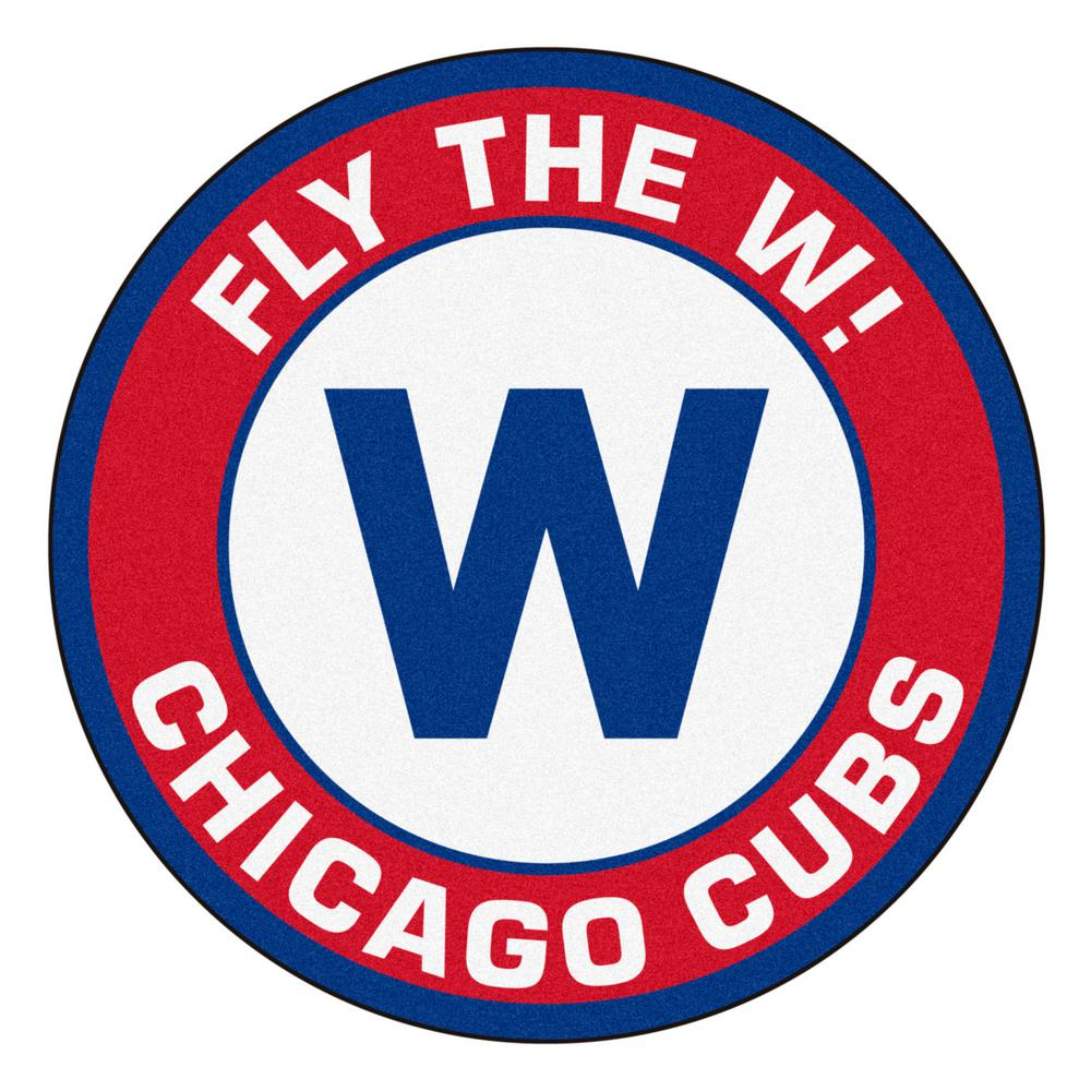 Fanmats Mlb Chicago Cubs 27 In Round Roundel Mat Area