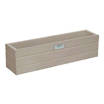 21.5 in. x 5 in. x 5.5 in. Driftwood Recycled Plastic Commercial Grade Window Box Planter