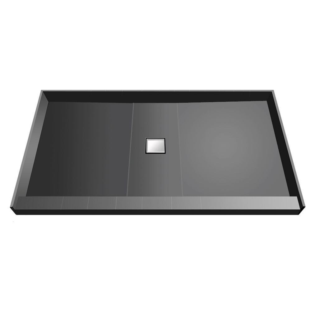 37 in. x 60 in. Single Threshold Shower Base with Center