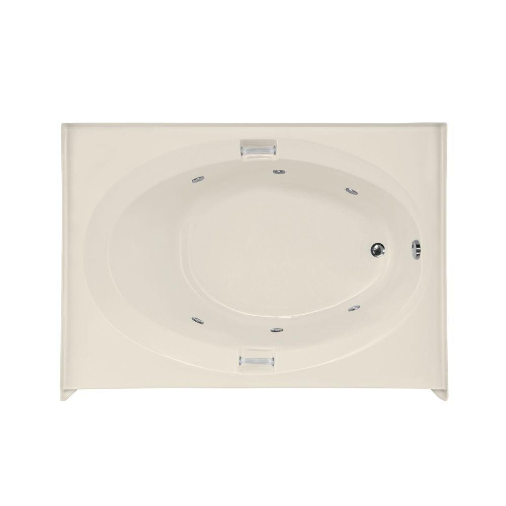 Sonoma 5 ft. Rectangle Right Hand Drain Whirlpool Tub in Biscuit