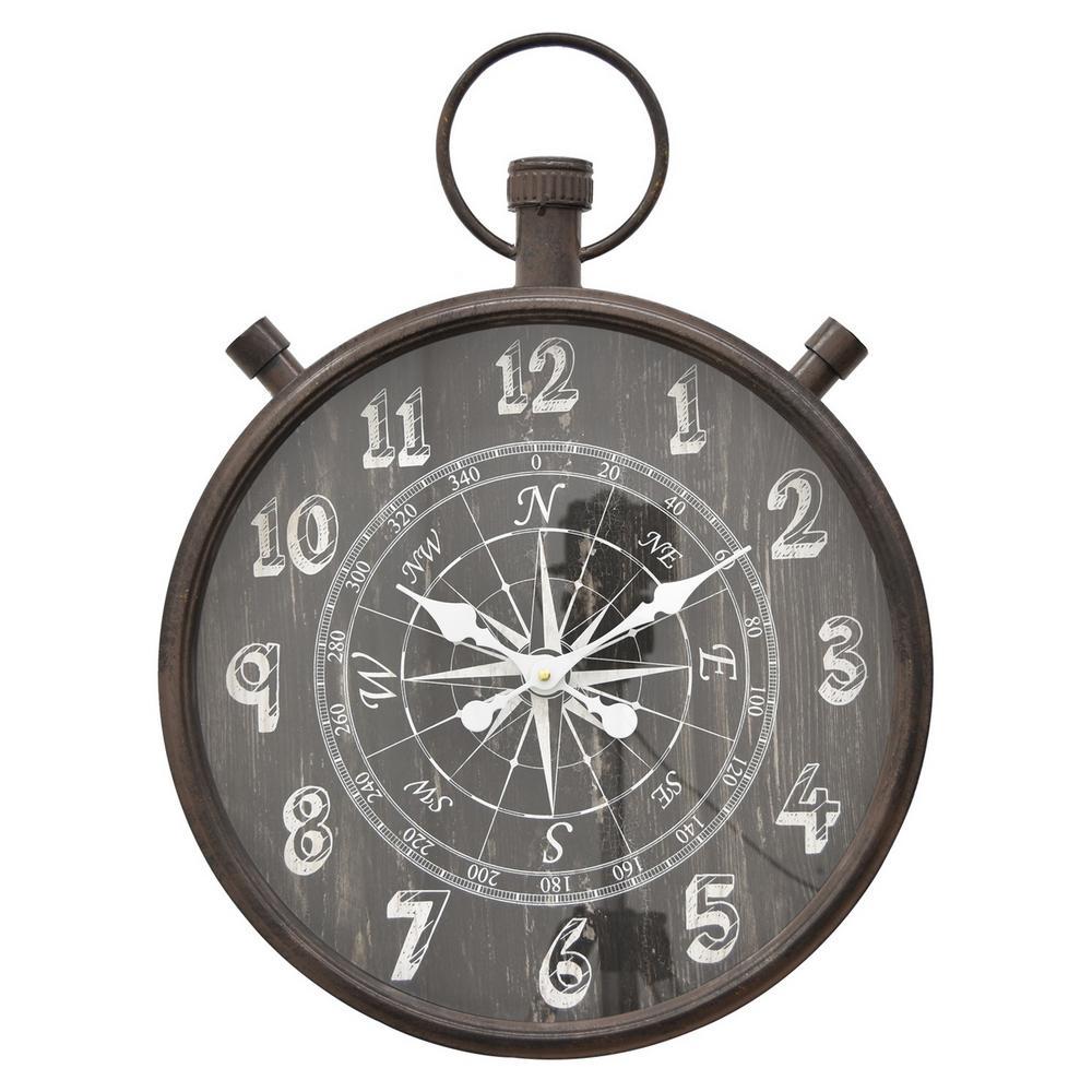 23.5 in. Metal Wall Clock