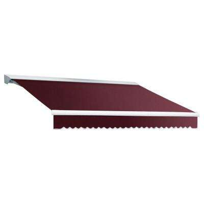 8 ft. DESTIN EX Model Right Motor Retractable with Hood Awning (84 in. Projection) in Burgundy