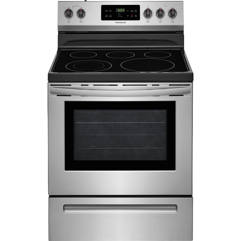 Frigidaire 30 In 5 3 Cu Ft Electric Range With Self Cleaning Oven
