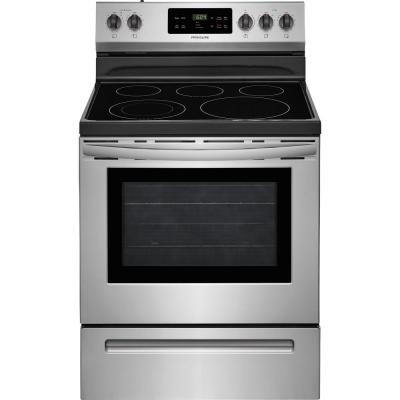 30 in. 5.3 cu. ft. Electric Range with Self-Cleaning Oven in Stainless Steel