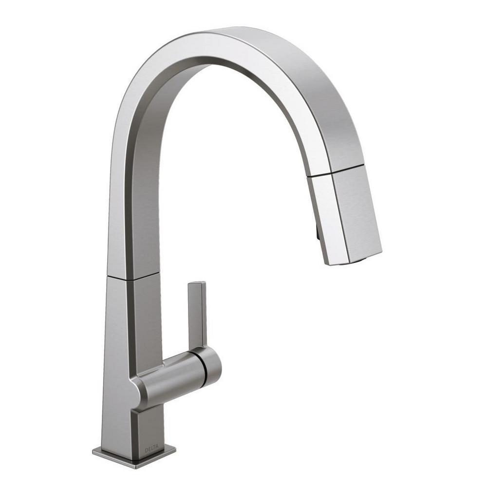 delta pivotal single-handle pull-down sprayer kitchen