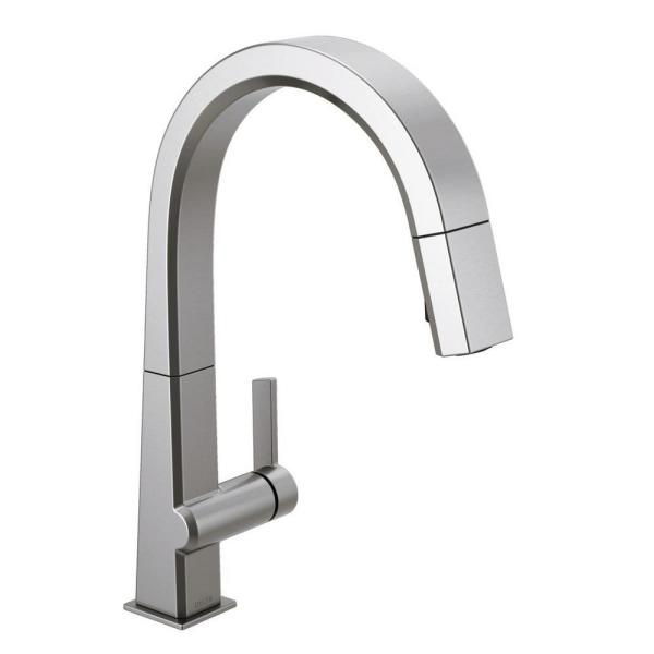 Pivotal Single-Handle Pull-Down Sprayer Kitchen Faucet with MagnaTite Docking in Arctic Stainless