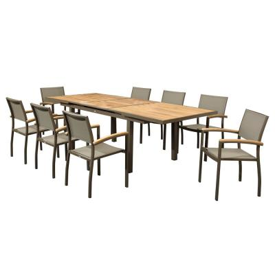 Classic 30.3 in. H 9-Piece Aluminum Rectangle Outdoor Dining Set