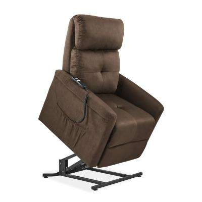 ProLounger Brown Microfiber Power Recline and Lift Chair