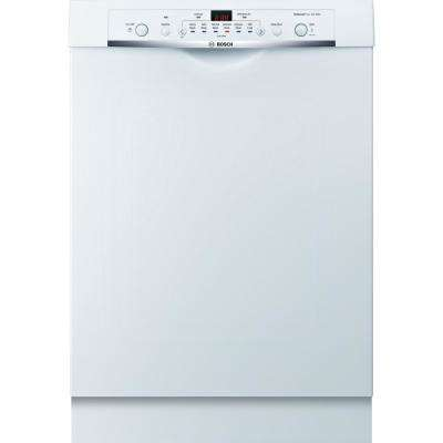 Ascenta Series Front Control Tall Tub Dishwasher in White with Hybrid Stainless Steel Tub, 50dBA