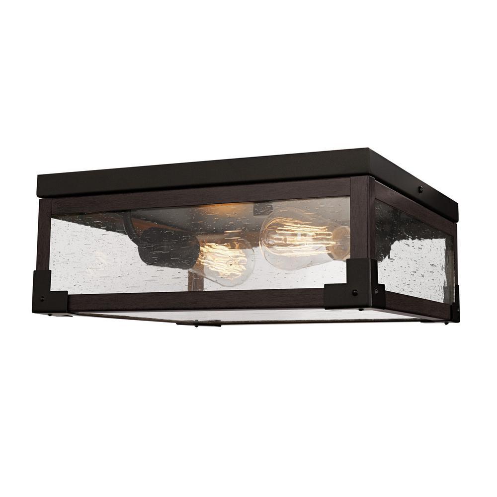 Williamsburg 2-Light Dark Bronze Flush Mount Light