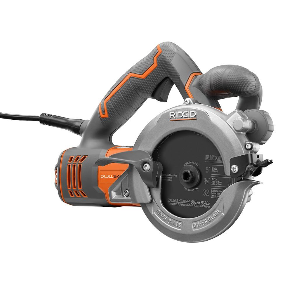 Ridgid 5 in 2 blade circular saw r3250 the home depot 2 blade circular saw keyboard keysfo Gallery