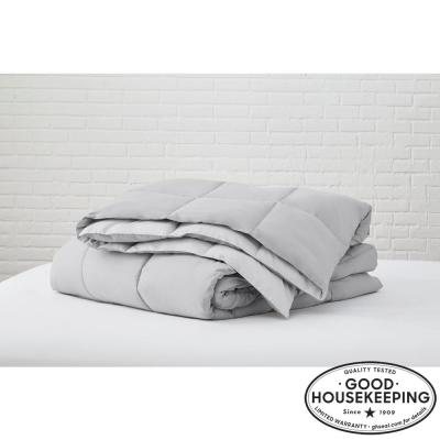 Gray Reversible Microfiber King Comforter
